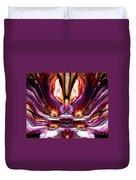 Self Reflection - Purple Orange Duvet Cover