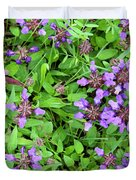 Selfheal In The Lawn Duvet Cover