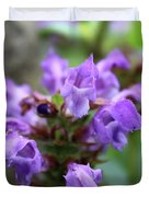 Selfheal Up Close Duvet Cover