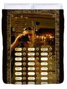 Selfie In Florence Duvet Cover