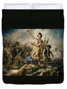 Selfie, Stupidity Leading The People Duvet Cover