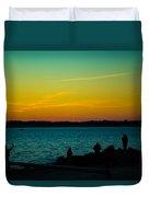 Selfie Sunset Duvet Cover