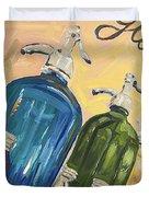 Seltzer Bottles Duvet Cover