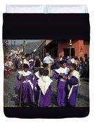 Semana Santa Procession II Duvet Cover by Kurt Van Wagner