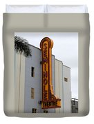 Seminole Theatre 1940 Duvet Cover by David Lee Thompson