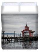 Seneca Lake Pier Duvet Cover