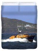 Sennen Cove Lifeboat Duvet Cover