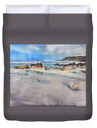 Sennen Cove Low Tide Duvet Cover