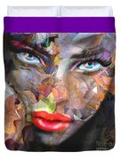 Sensual Eyes Autumn Duvet Cover