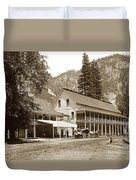 Sentinel Hotel And Ivy And River Cottages Circa 1895 Duvet Cover