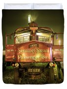 Sentinel Steam Bus By Night  Duvet Cover