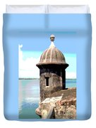 Sentry Box In El Morro Duvet Cover