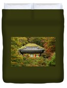 Seokguram Grotto Duvet Cover