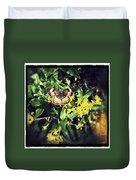 Sepia Butterfly Duvet Cover