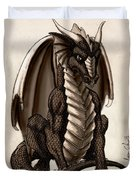 Sepia Dragon Duvet Cover
