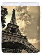 Sepia Eiffel Duvet Cover