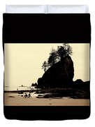 Sepia High Contrast Rialto Beach Duvet Cover