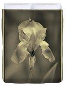 Sepia Iris  Duvet Cover