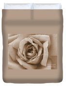 Sepia Rose Duvet Cover