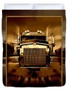 Sepia Toned Kenworth Abstract Duvet Cover