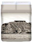Sepia Tones Nature Landscape Nevada  Duvet Cover
