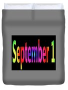 September 1 Duvet Cover