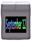 September 12 Duvet Cover