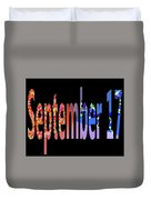 September 17 Duvet Cover