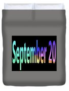 September 20 Duvet Cover