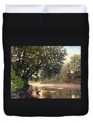 September Dawn Little Sioux River - Plein Air Duvet Cover