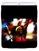 Serena Williams Another Record Set Duvet Cover