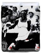 Serena Williams Victory Duvet Cover by Brian Reaves