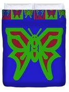 Serendipity Butterflies Blueredgreen 6of15 Duvet Cover