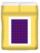 Serendipity Butterflies Brickgoldblue 15  Duvet Cover