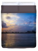 Serene City At Dusk Duvet Cover