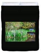 Serene Iris Duvet Cover