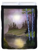 Serene Nightscape Duvet Cover
