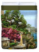 Serene Sorrento Duvet Cover by Trevor Neal