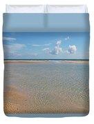 Serene Tidal Pool By The Sea Duvet Cover