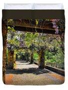 Serene Walkway  Duvet Cover