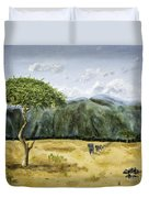 Serengeti Painting Duvet Cover