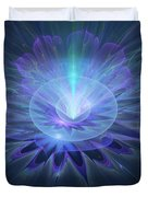Serenity Abstract Fractal Duvet Cover