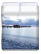Serenity At Naples Pier Duvet Cover