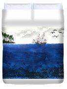 Serenity At Sea Duvet Cover