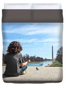 Serenity On The National Mall Duvet Cover