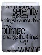 Serenity Prayer 05 Duvet Cover