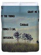 Serenity Prayer Field Duvet Cover