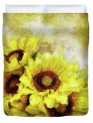 Serenity Sunflowers Duvet Cover