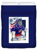 Sergei Bobrovsky Columbus Blue Jackets Duvet Cover