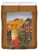Sergei Esenin 1895-1925 As A Youth, Boris Grigoriev Duvet Cover